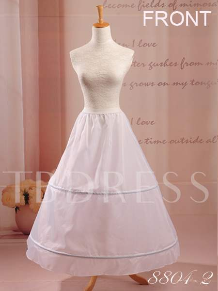 Two Steel Rings A-Line Wedding Petticoat