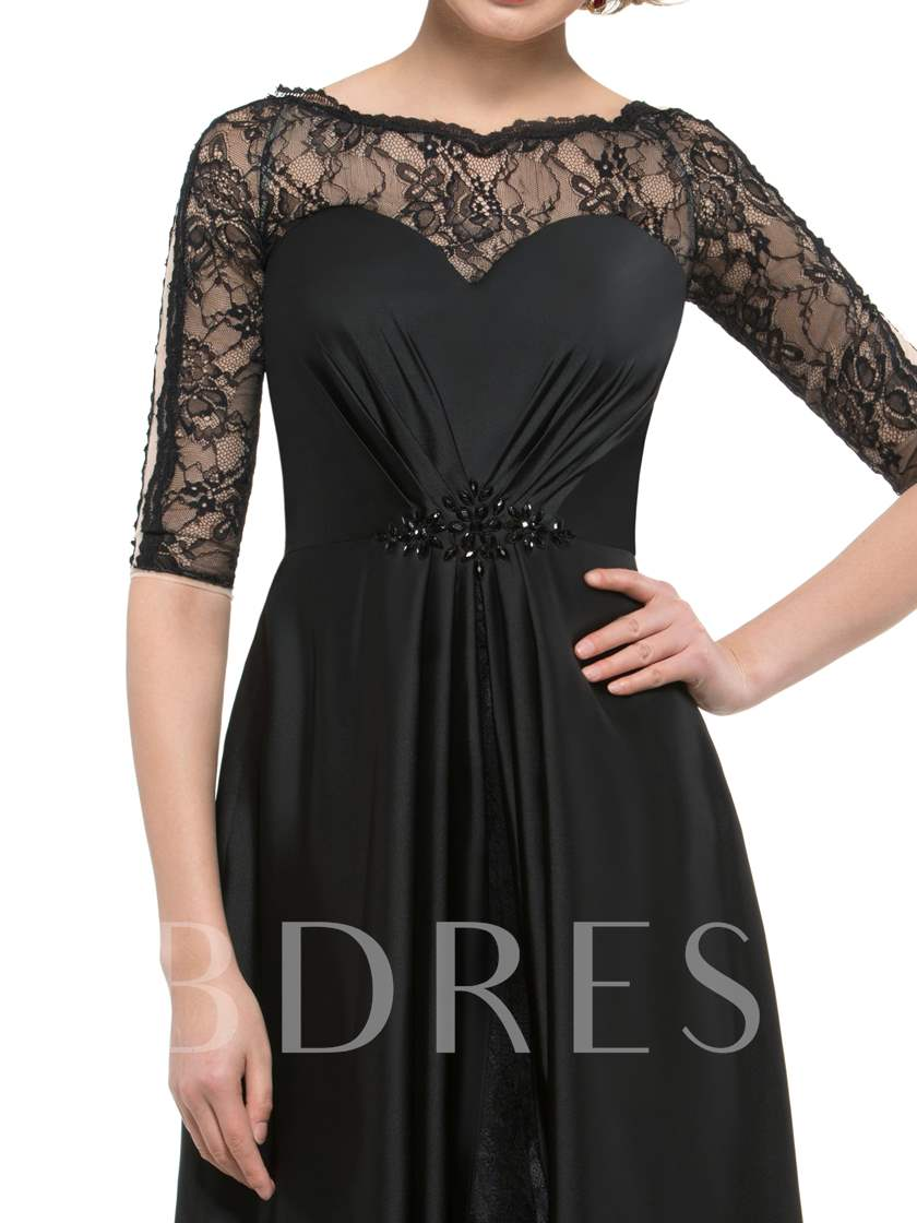 Beading Half Sleeve Lace Mother of the Bride Dress