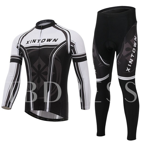 Sweat-Absorption Quick-Dry Springy Men's Cycling Suit (Plus Size Available)
