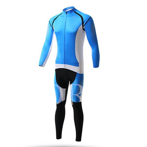 Wind Breaker Thick Long Sleeve Quick-Dry Springy Men's Biking Suit