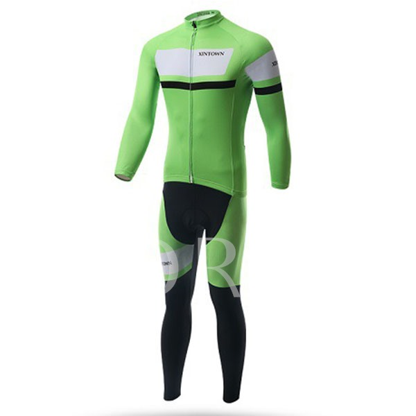 Wind Breaker Thick Long Sleeve Springy Men's Biking Suit (Plus Size Available)