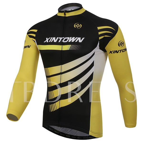 Long Sleeve Soft Wind Breaker Thick Elastic Materials Men's Biking Suit