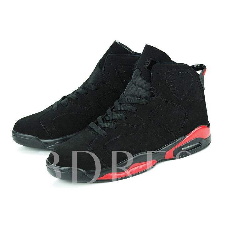 Color Block Round Toe Flat Heel Ankle Plain Men's Sneakers