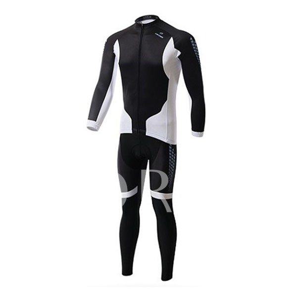 Soft Wind Breaker Thick Long Sleeve Elastic Materials Men's Cycling Suit (Plus Size Available)