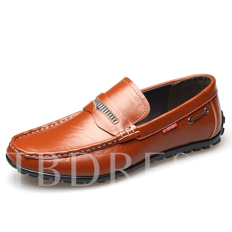 Round Toe Slip-On Flat Heel Men's Oxfords