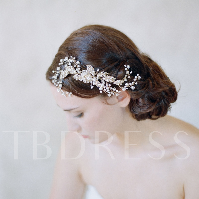 Pearls Rhinestone Wedding Bridal Hair Comb