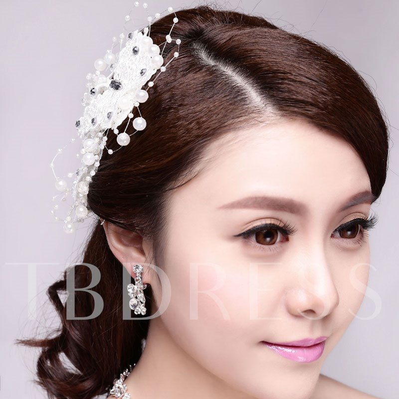Butterfly Shaped Beading Bridal Hair Flower