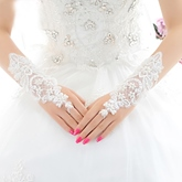 Fingerless Lace Wedding Bridal Gloves
