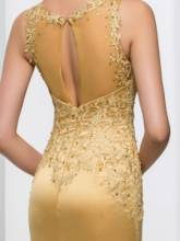 Appliques Sheath Sequins Evening Dress