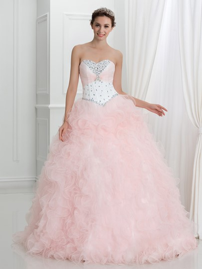 Sweetheart Beaded Lace-Up Ball Gown Quinceanera Dress