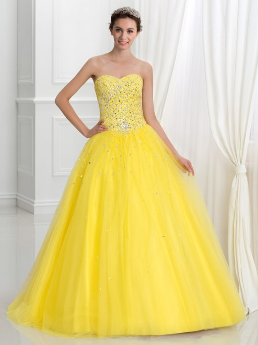 84286b923d Sweetheart Lace-Up Long Ball Gown Quinceanera Dress