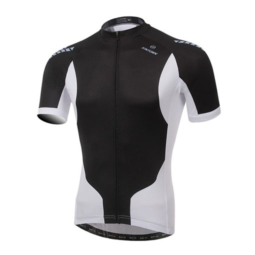 Black White Short Sleeve Cycling Jersey