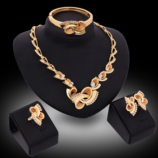 Aureate Bowknot Four-Piece Jewelry Set