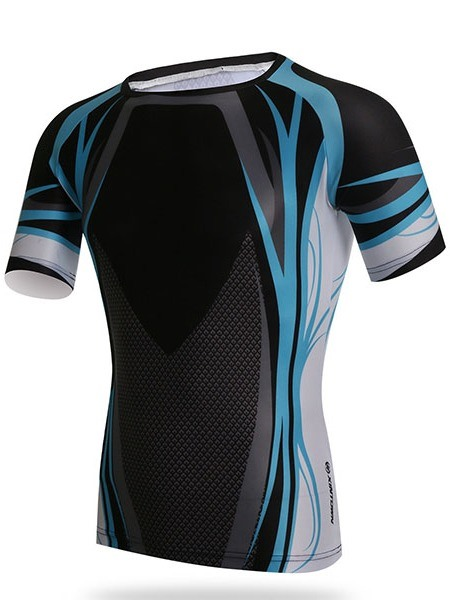Men's Round Collar Tight Outdoor Short Sleeve Cycle Jersey