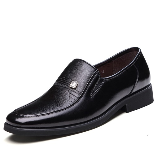 Round Toe Sequins Square Heel Slip-On Men's Oxfords