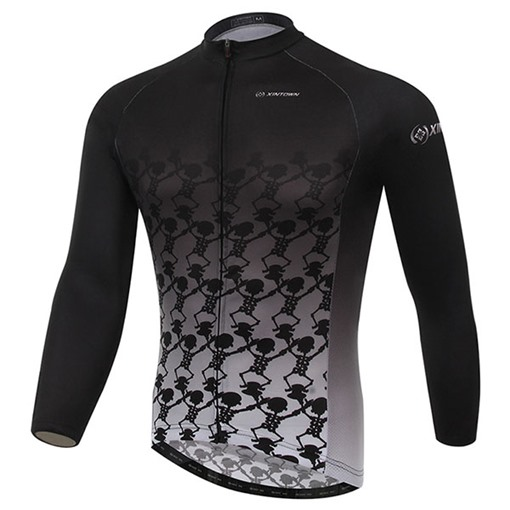 Skeleton Body Long Sleeve Cycling Jersey