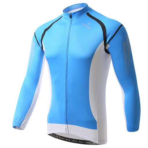 Long Sleeve Quick-Drying Perspiration Men's Cycling Bike Jersey (Plus Size Available)