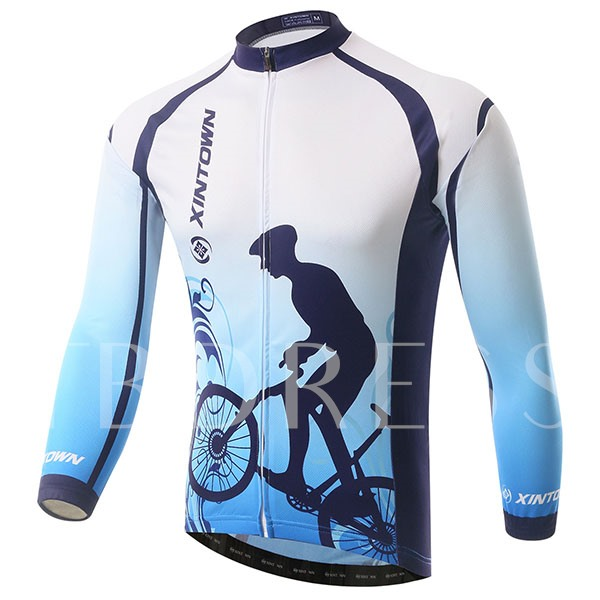 Windproof Fleece Lining Keep Warm Men's Cycling Top (Plus Size Available)