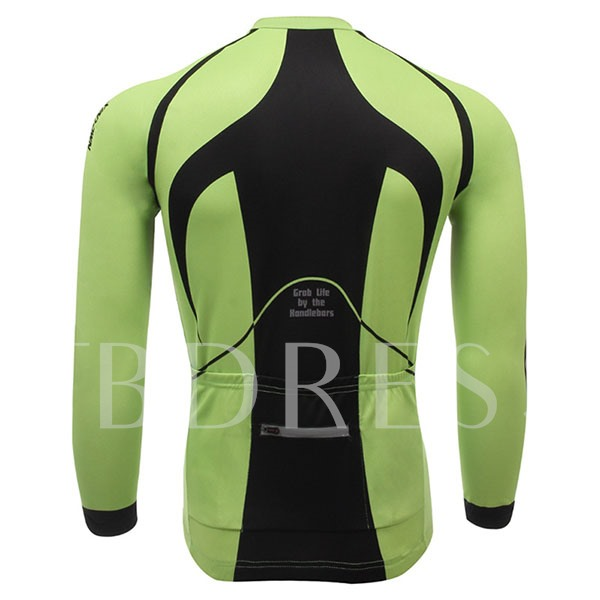Fleece Lining Long Sleeve Stretchable Men's Cycling Top (Plus Size Available)