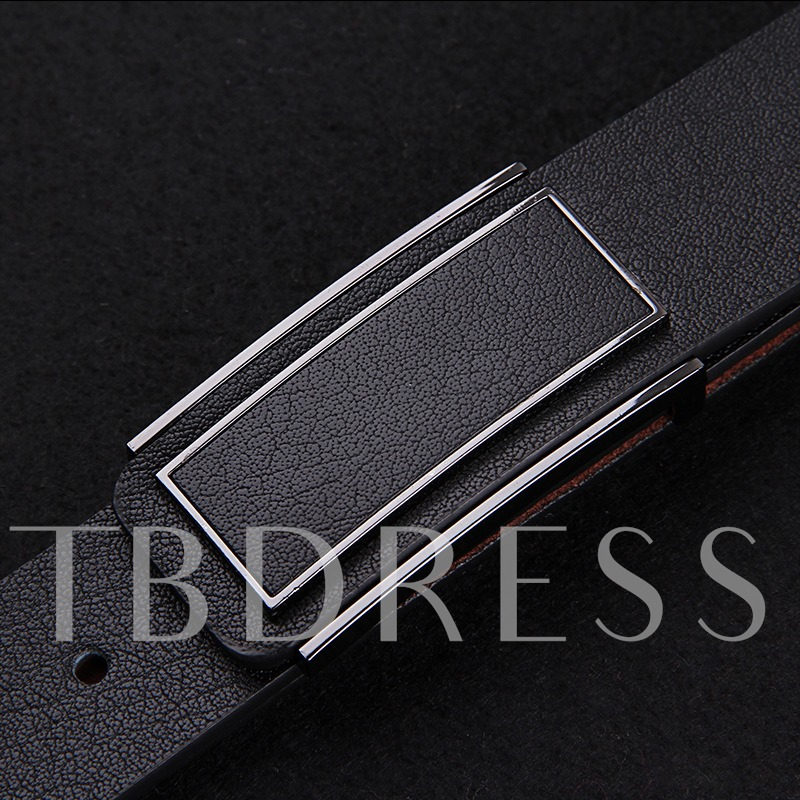 Extremely Curly Grain Buckle Belt
