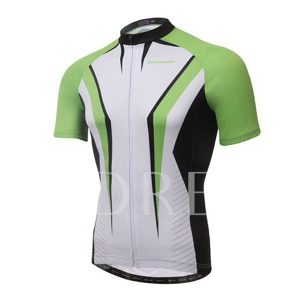Color Emphasized Short Sleeve Cycling Jersey