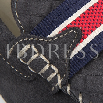 Nubuck Quilted Patchwork Men's Moccasin-Gommino
