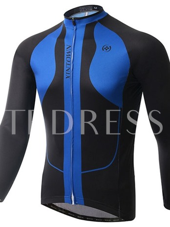 Windproof Fleece Lining Warm Men's Cycling Top (Plus Size Available)