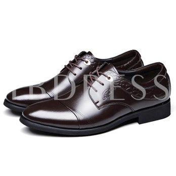 Sequins Square Heel Pointed Toe Men's Oxfords