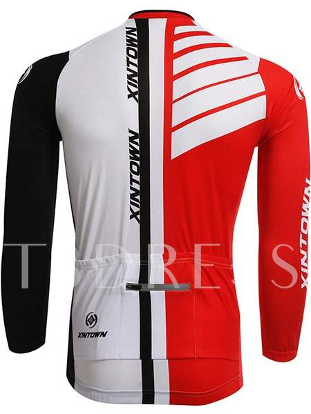 Color Link Warm Long Sleeve Stretchable Men's Cycling Top (Plus Size Available)