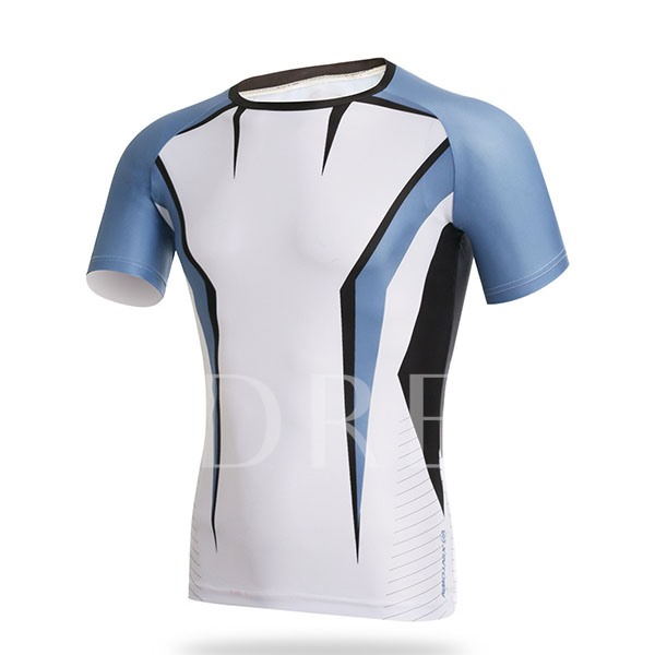 Men's Round Collar Outdoor Sportswear Tight Cycle Jersey