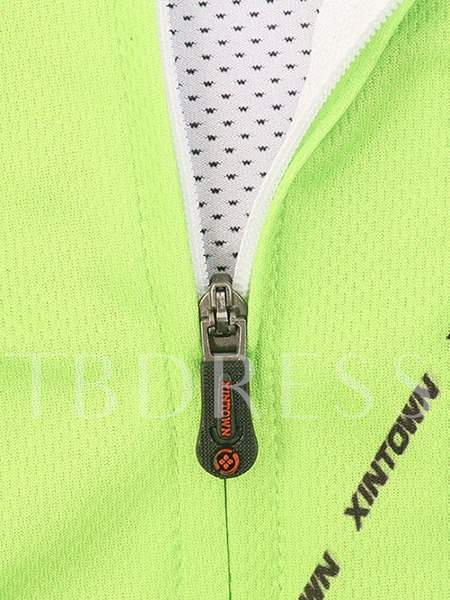 Light Green Long Sleeve Cycling Jersey