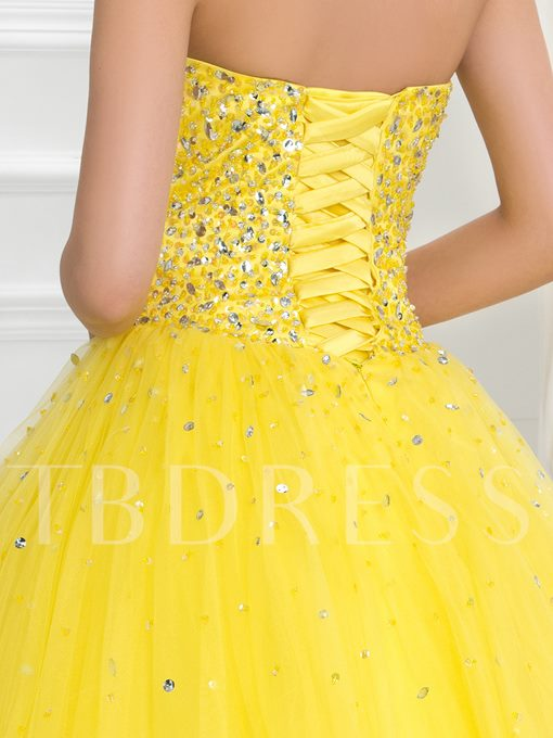 Sweetheart Lace-Up Long Ball Gown Quinceanera Dress