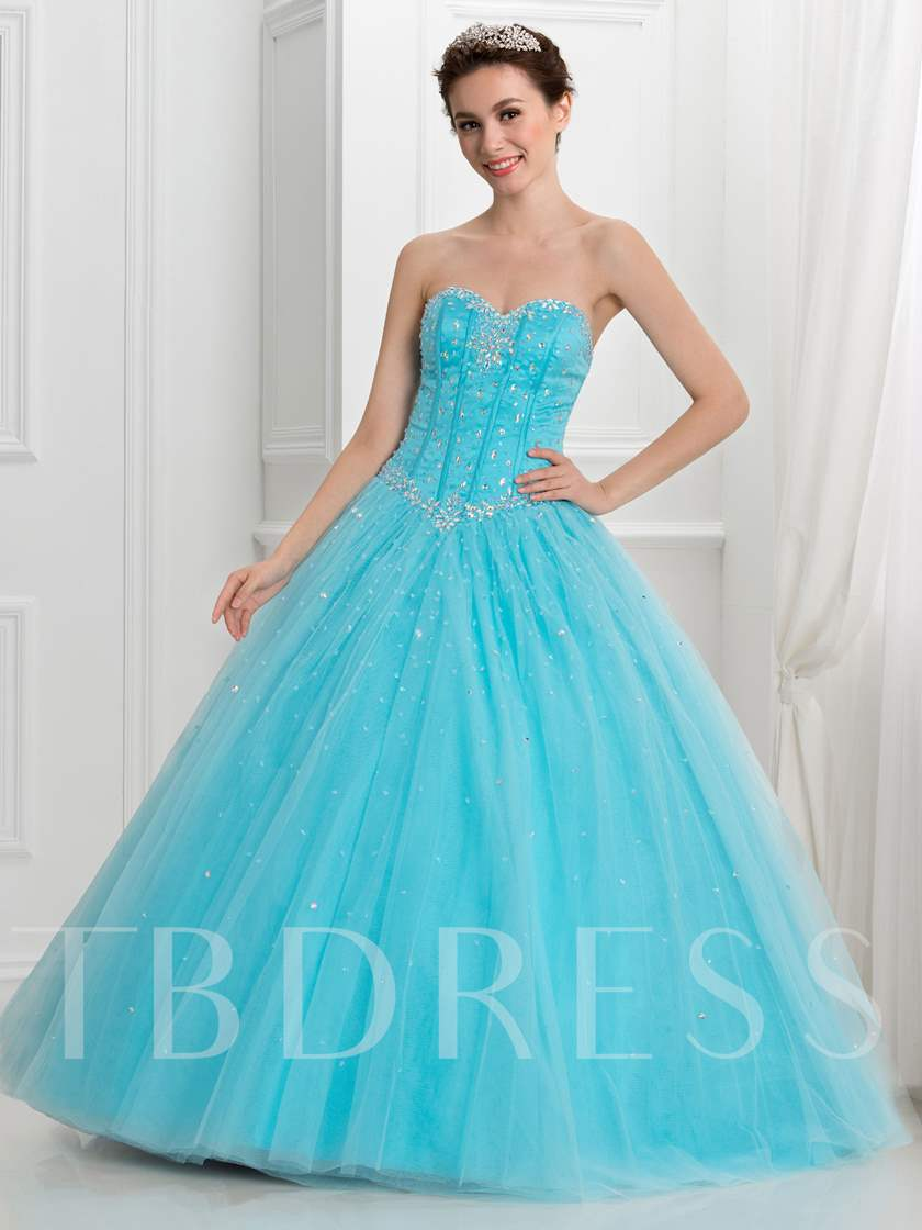 Sweetheart Sequins Lace-Up Quinceanera Dress