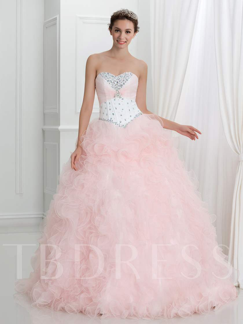 Sweetheart Beaded Lace-Up Quinceanera Dress with Jacket