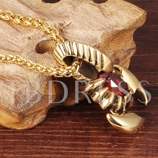 Scorpion Shaped Synthetic Stones Vintage African Men's Necklace
