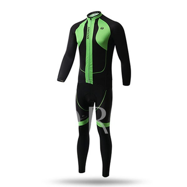 Keep Warm Long Sleeve Quick-Dry Elastic Materials Men's Biking Suit (Plus Size Available)
