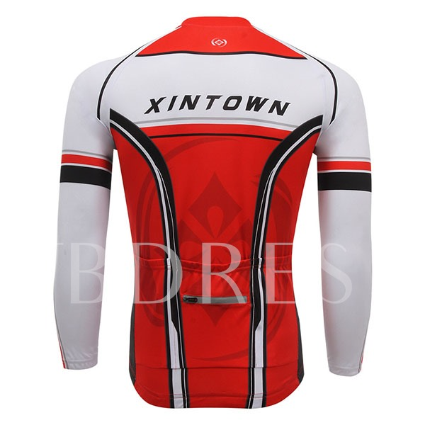 Color Link Quick-Dry Stretchable Men's Cycling Top (Plus Size Available)