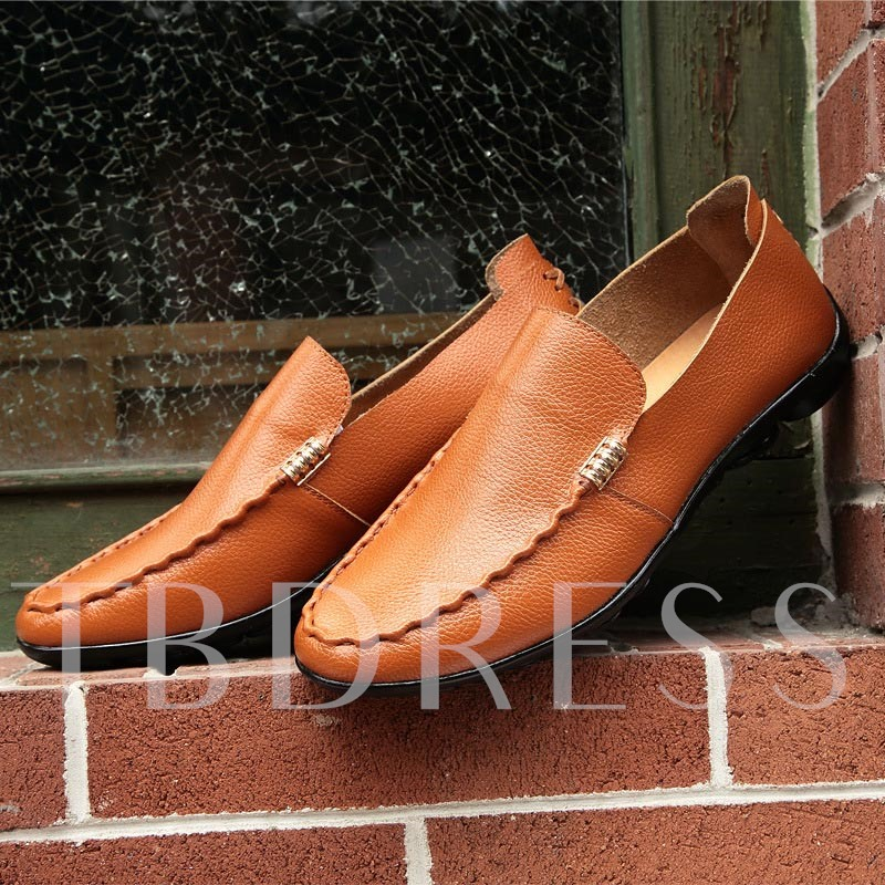 Slip-On Sequins Round Toe Flat Heel Men's Oxfords