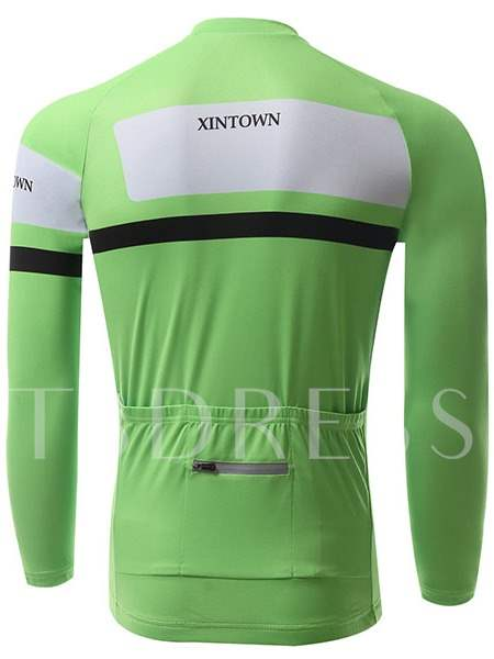 Fleece Lining Quick-Dry Stretchable Men's Cycling Top (Plus Size Available)