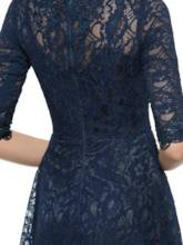 Knee-Length Half Sleeves Lace Mother of the Bride / Groom Dress