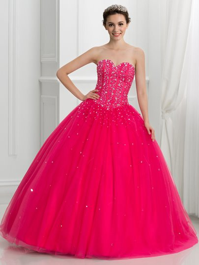 Sweetheart Ball Gown Beaded Lace-Up Quinceanera Dress