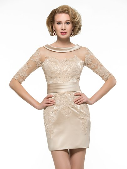 Lace Half Sleeve Sheath Mother of the Bride Outfit