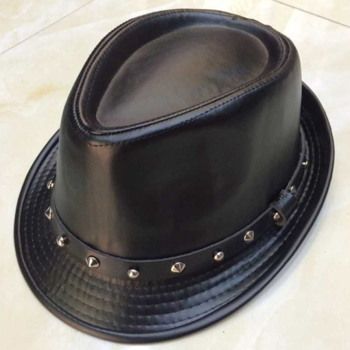 Cool Rivet Decor PU Men's Fedora Hat