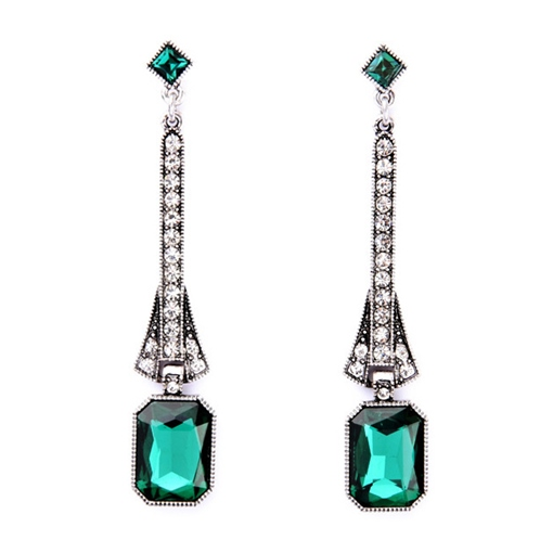 Retro Emerald Earrings