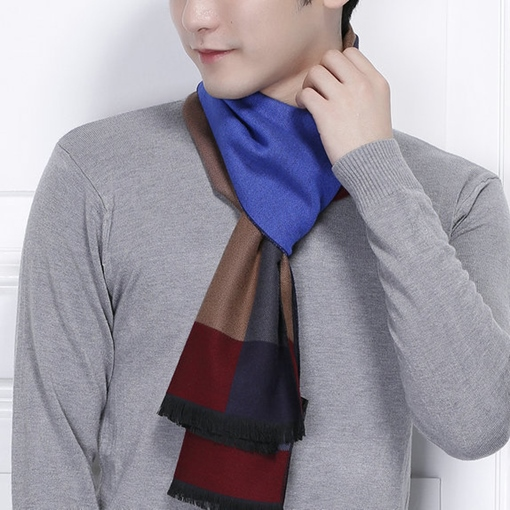 Colors Grid Patchwork Men's Scarf