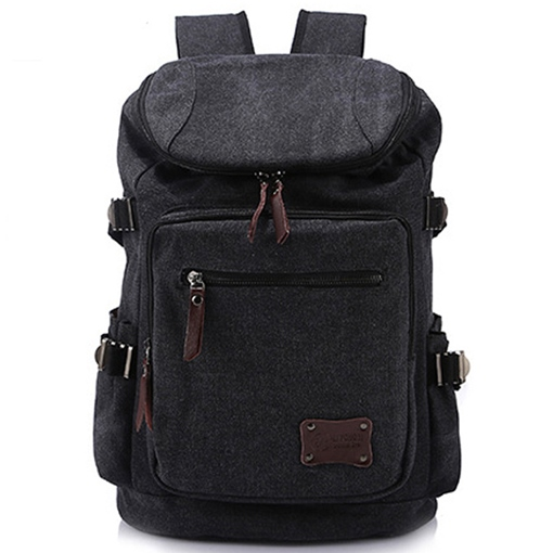 Top Dome Zipper Canvas Men's Backpack