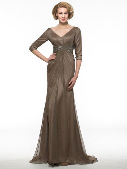 Sequins Beading Mother of the Bride Dress with Half Sleeve