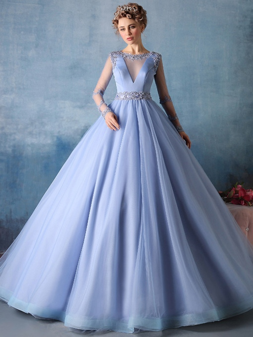 Scoop Neck Flowers Ball Gown Floor Length Quinceanera Dress