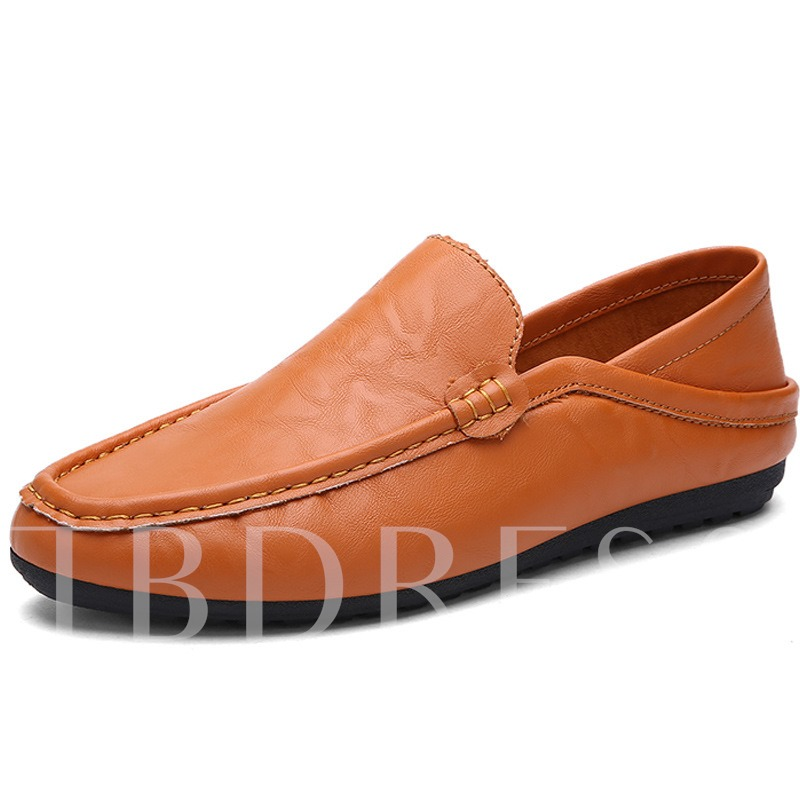 Square Toe Slip-On Low-Cut Upper Men's Loafers