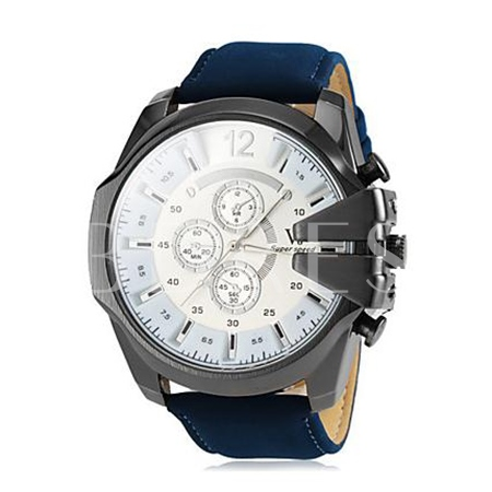 Metal Big Dial Business Men's Watch